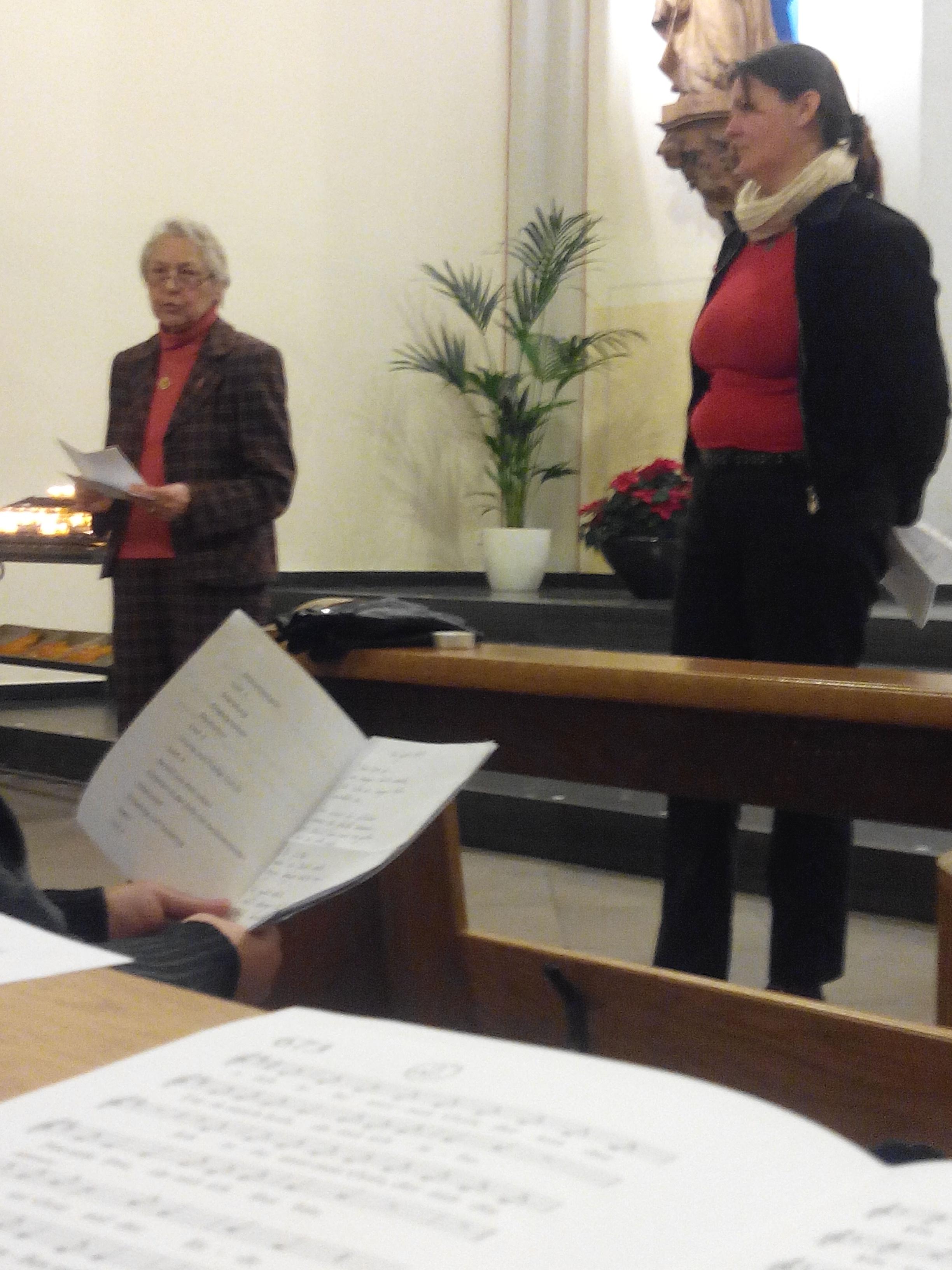 Frau Dr. Pöppel und Bianca Schröder