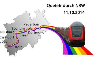 """Que(e)r durch NRW"" mit dem Regionalzug zum Coming Out Tag 2014"