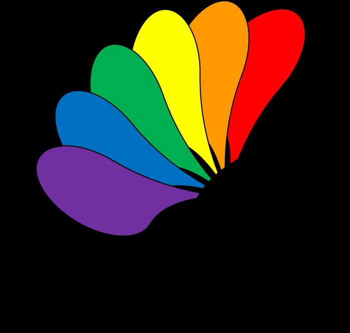 Logo PaderPride - regenbogenbunter Pfau