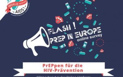 """Online-Befragung """"Flash! PrEP in Europe"""""""