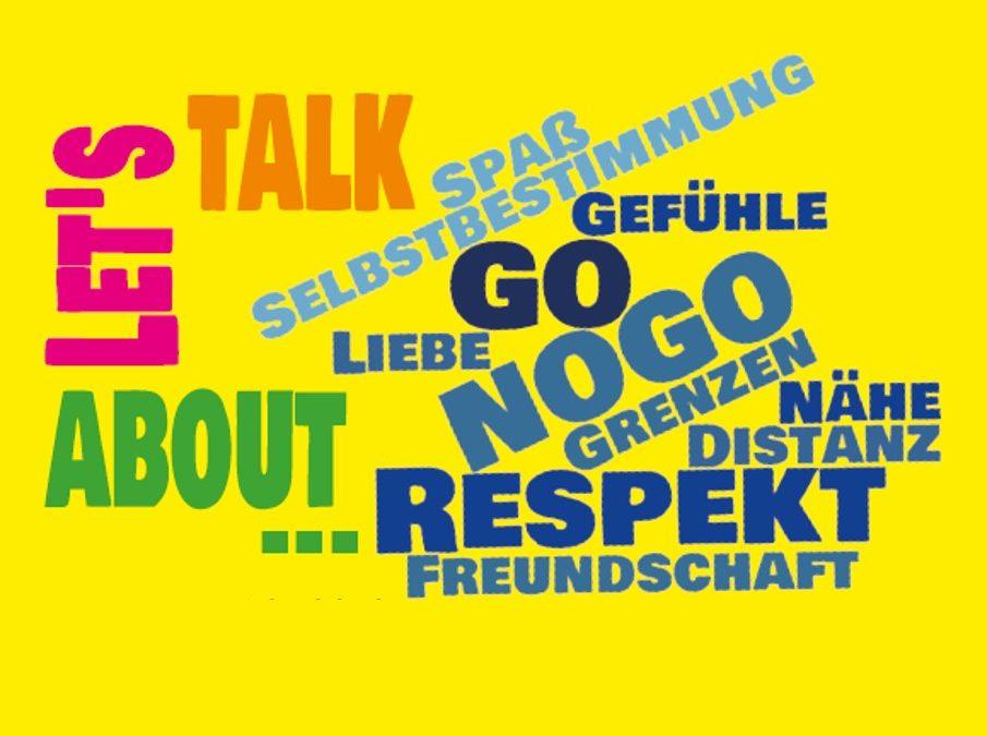 Let's talk about… Aktion zum Thema Distanz und Respekt im Freibad