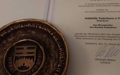 Ehrenamtspreis 2020 des Kreis Paderborn für die Aidshilfe Paderborn