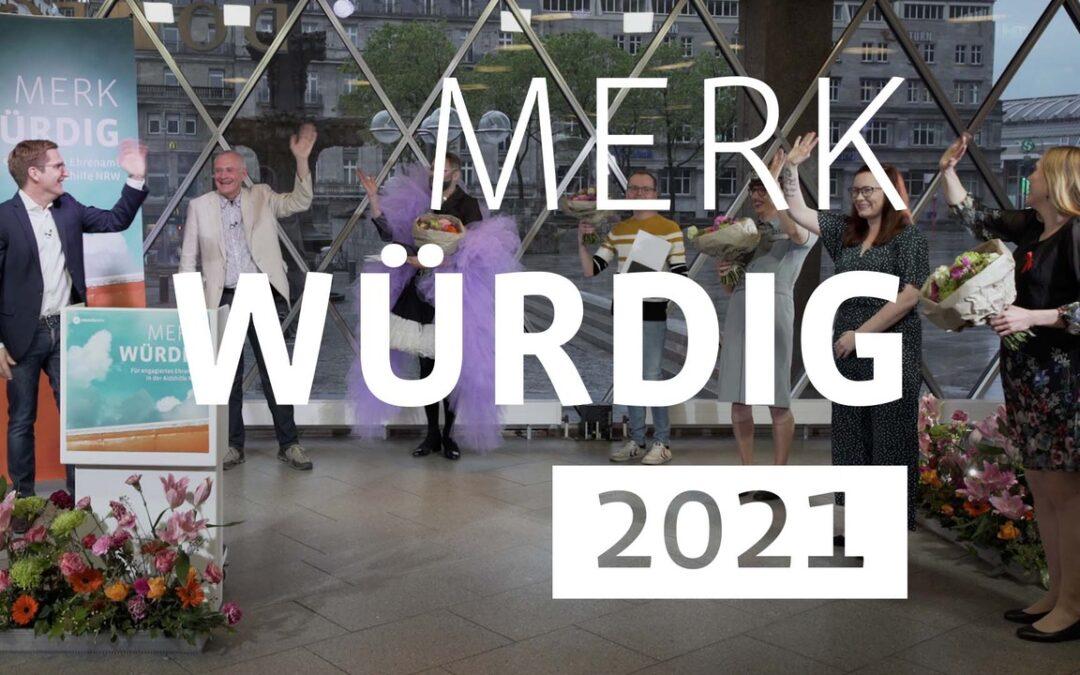 Jule Frielingsdorf erhält den Ehrenamtspreis merk würdig 2020/21